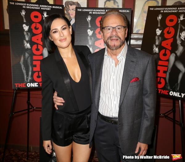Rumer Willis and producer Barry Weissler