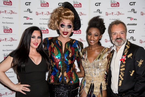 Michelle Visage, Bianca Del Rio, Beverley Knight and Graham Norton