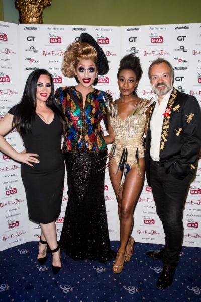 Michelle Visage, Bianca Del Rio, Beverley Knight and Graham Norton Photo