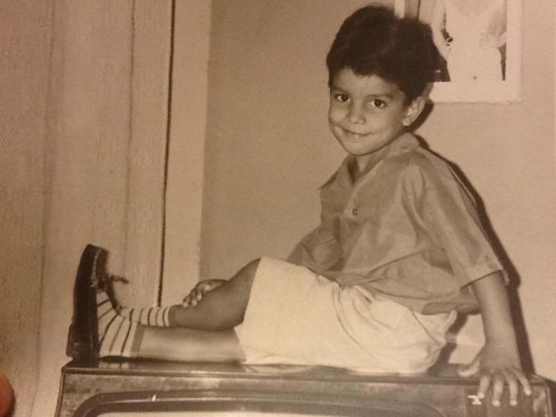 Carlos as a young boy in Cuba.