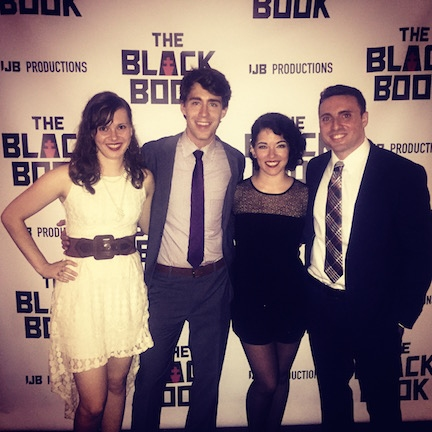 THE BLACK BOOK producers: Katherine McCombs, Danny Bateman, Glo Gambino with playwright/ Phil Blechman