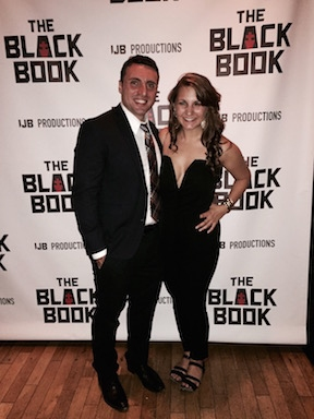 THE BLACK BOOK scenic designer Ann Beyersdorfer and playwright/  Phil Blechman Photo