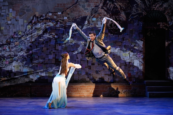 Erica Wong and Alex Michael Stoll in David Henry Hwang''s vignette WHITE SNAKE. Photo