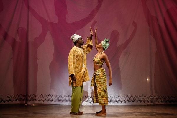 Adesola Osakalumi and Marija Juliette Abney in Lynn Nottage''s vignette A WEDDING DANCE.