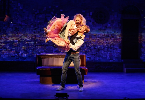 Hayley Podschun and Brendon Stimson in Alfred Uhry''s vignette LOVE WITH THE TOP DOWN.