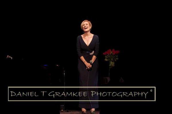 Karen Mason, full of joy at the audience''s warm and energetic reaction