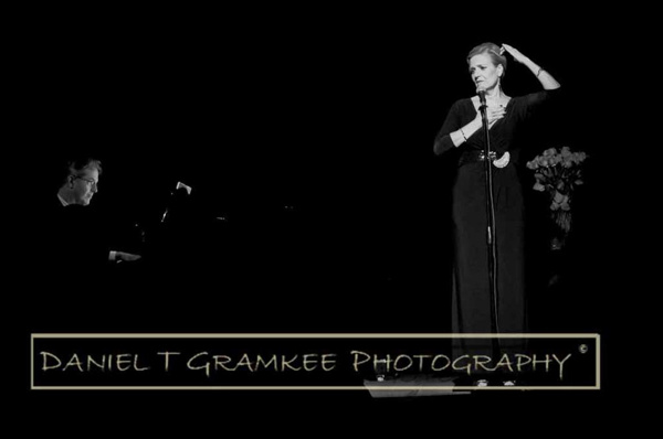 Karen Mason re-channeling Norma Desmond, with Christopher Denny helping guide her back