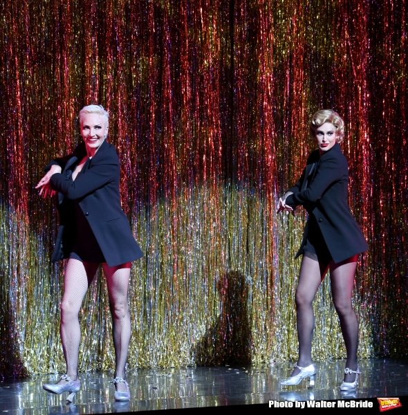 Amra-Faye Wright with Rumer Willis making her Broadway debut as Roxie Hart in ''Chicago'' at the Ambassador Theatre on September 21, 2015 in New York City.