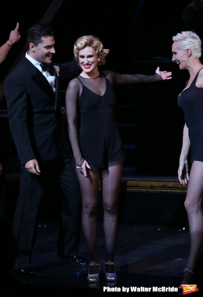 Ryan Silverman and Amra-Faye Wright with Rumer Willis making her Broadway debut as Roxie Hart in ''Chicago'' at the Ambassador Theatre on September 21, 2015 in New York City.