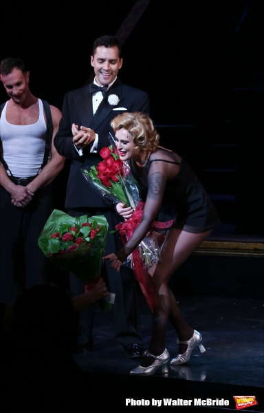 R. Lowe, Ryan Silverman with Rumer Willis making her Broadway debut as Roxie Hart in ''Chicago'' at the Ambassador Theatre on September 21, 2015 in New York City.