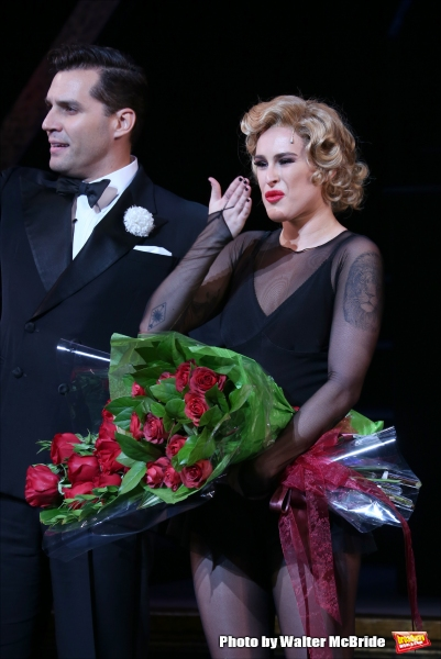 Ryan Silverman with Rumer Willis making her Broadway debut as Roxie Hart in ''Chicago'' at the Ambassador Theatre on September 21, 2015 in New York City.