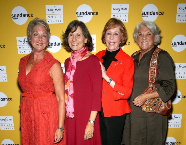Michele Pawk, Lydia Kontos, Carol Burnett and Tyne Daly