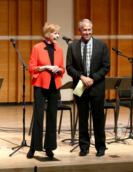 Carol Burnett and Phillip Himberg speak at Burnett''s play HOLLYWOOD ARMS, back onstage after 15 years.