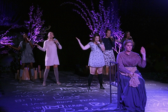 Alexandra Slade (Anna), Rebecca B. Thomas (Thea), Emily Chelsea (Wendla), Kaylee Brya Photo