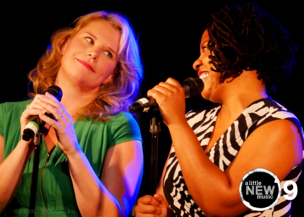 Lauren Van Kurin and Christina Anthony sing ''70s Love Theme'' from BIGFOOT by Amber Ruffin, Kevin Sciretta, and David Schmoll (photo by amy francis schott)