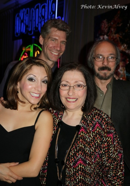 Billy Ernst, Christina Bianco and her parents Photo