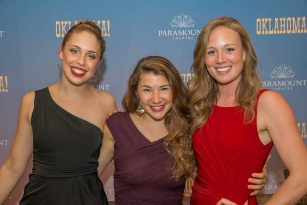 Annelise May Baker (Ensemble), Lillie Cummings (Ado Annie Carnes) and Allison Sill (L Photo