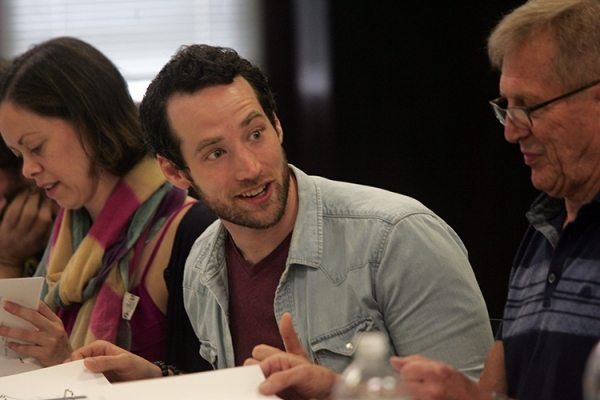 Photo Flash: First Read-Through of Goodspeed's IT'S A WONDERFUL LIFE - Duke Lafoon, Ed Dixon, Josh Franklin, Kirsten Scott and More!