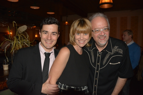 I AM MY OWN WIFE star Vince Gatton with  Amy Corcoran and playwright Doug Wright.