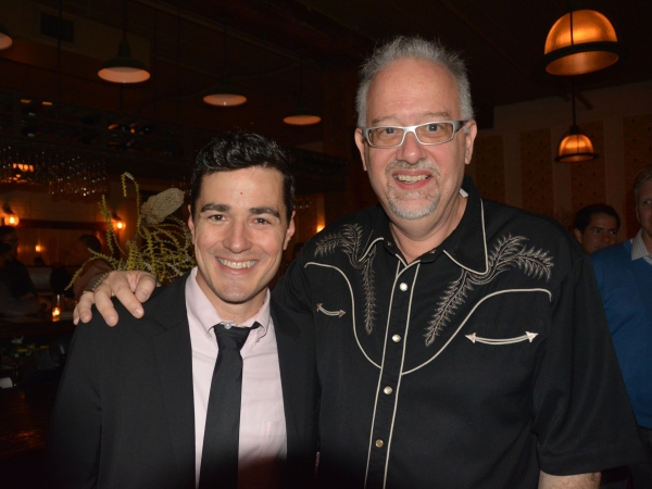 Playwright Doug Wright with I AM MY OWN WIFE star Vince Gatton
