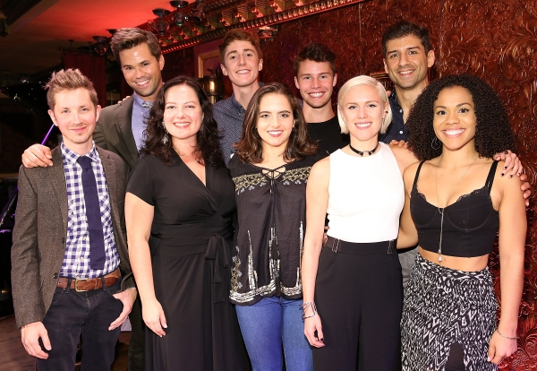 Andrew Rannells, Riley O'Flynn, Sean Howe and Tony Yazbeck, and (front row) Julian Pollack, Zuzanna Szadkowski, Daisy Jacobson, Grace Weber and Alysha Deslorieux