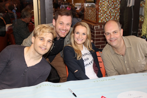 Andy Mientus, Michael Arden, Kate Reinders and Brad Oscar
