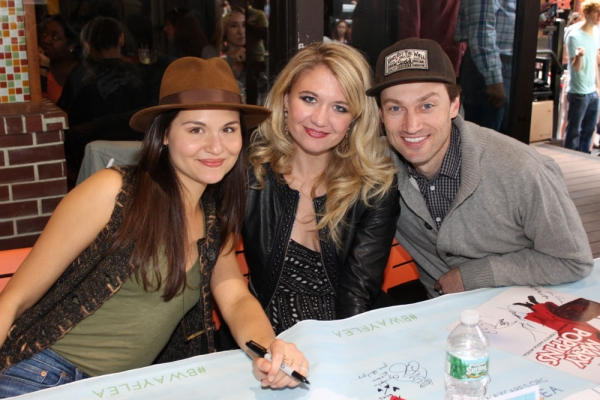 Phillipa Soo, Scarlett Strallen and Bryce Pinkham