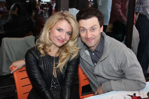 Scarlett Strallen and Bryce Pinkham