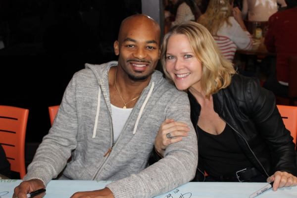 Brandon Victor Dixon and Rebecca Luker