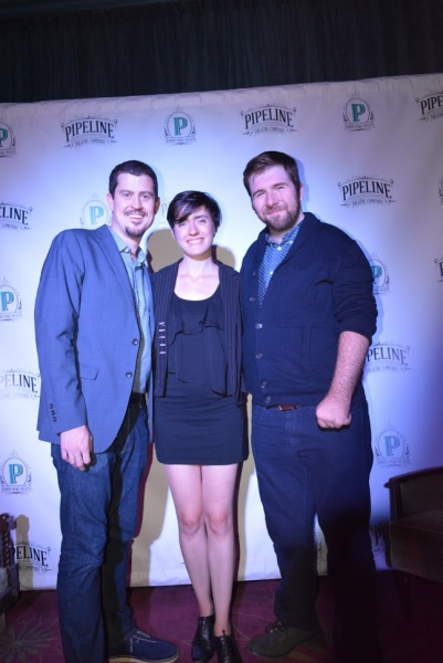 Andrew Neisler, Pipeline Theatre Company''s Artistic  Ari Schrier, and playwright Andrew Farmer