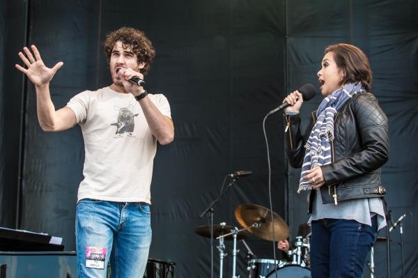 Darren Criss and Lea Salonga