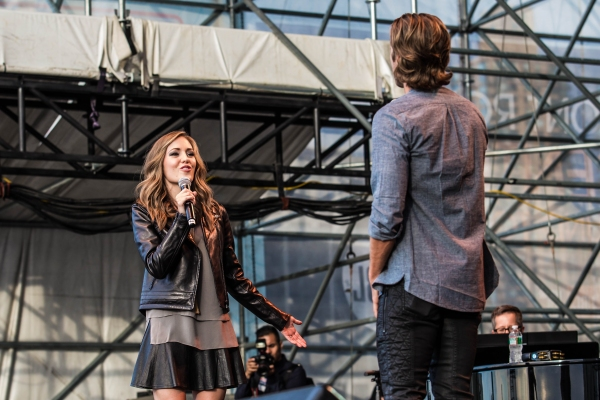 Laura Osnes and Aaron Tveit