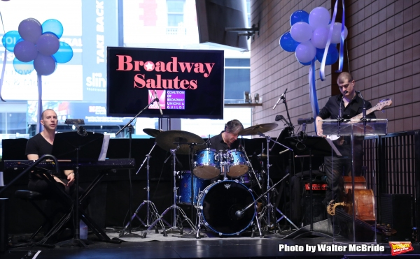 Charlie Alterman, Clint de Ganon and Michael Blanco attends the Broadway Salutes 2015 in Anita's Way on September 29, 2015 in New York City.