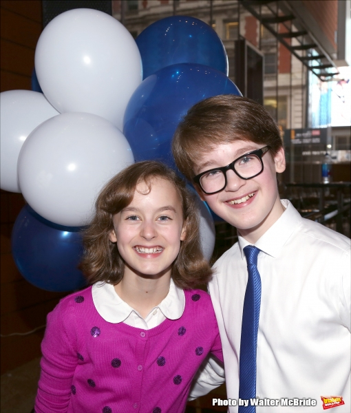 Sydney Lucas and Jake Lucas attend the Broadway Salutes 2015 in Anita's Way on September 29, 2015 in New York City.