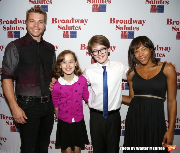 Nathaniel Hackmann, Sydney Lucas, Jake Lucas and Nikki James attend the Broadway Salutes 2015 in Anita's Way on September 29, 2015 in New York City.