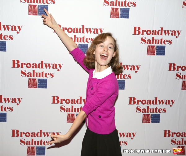 Sydney Lucas attends the Broadway Salutes 2015 in Anita's Way on September 29, 2015 in New York City.