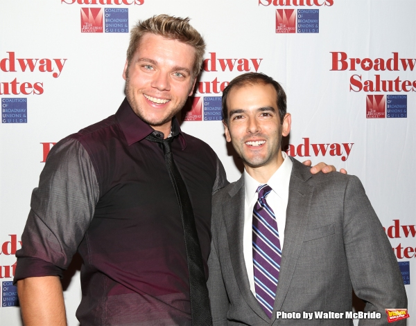 Nathaniel Hackmann and Marc Bruni attend the Broadway Salutes 2015 in Anita's Way on September 29, 2015 in New York City.