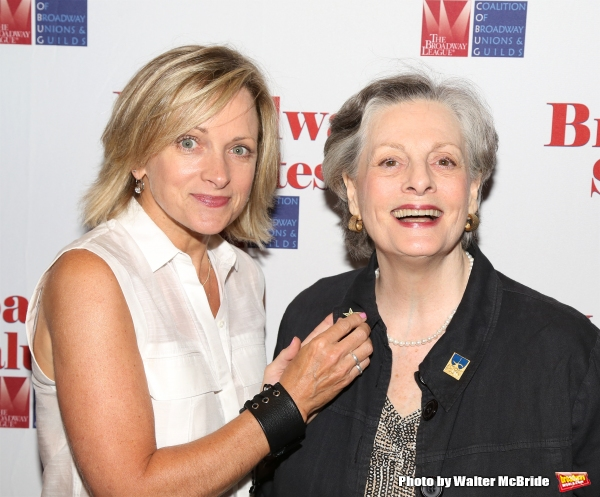 Paige Price and Judith Ivey attend the Broadway Salutes 2015 in Anita's Way on September 29, 2015 in New York City.