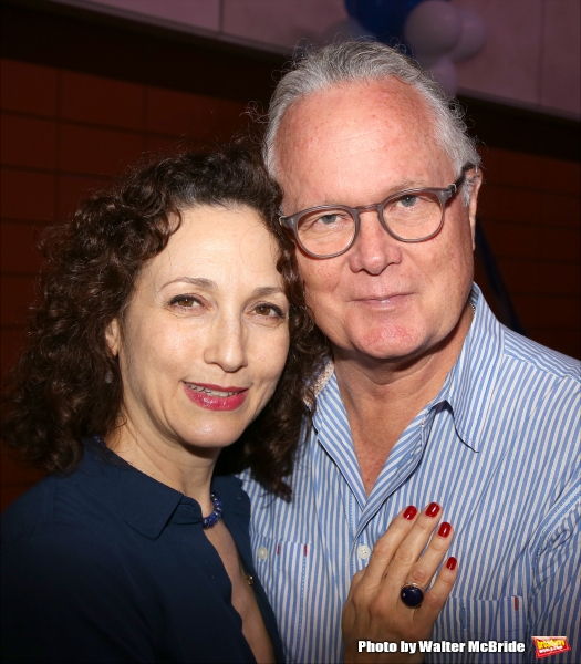 Bebe Neuwirth and Chris Calkins attend the Broadway Salutes 2015 in Anita's Way on September 29, 2015 in New York City.