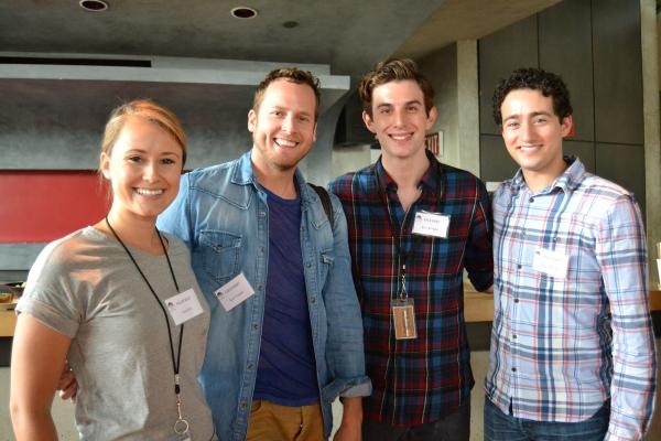 Lara Zinn (Charlotte), Kyle Vaughn (Knife Grinder), Kyle Schliefer (Noah Claypole) and Jimmy Mavrikes (Swing)