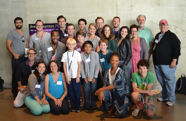 Molly Smith with the cast at the first rehearsal of OLIVER! at Arena Stage