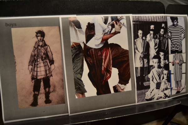 Inspirations for costumes compiled by costume designer Wade Laboissonniere Photo