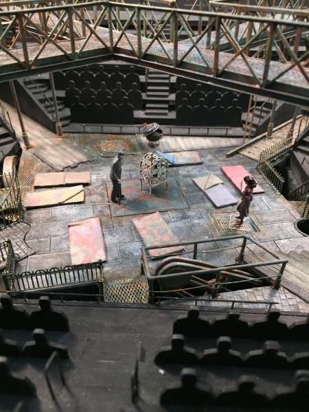 Model of the set design by Tony Award-winning designer Todd Rosenthal