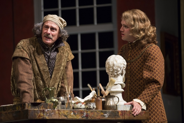 Mitchell Hebert as Rembrandt and Josh Sticklin as his son Titus