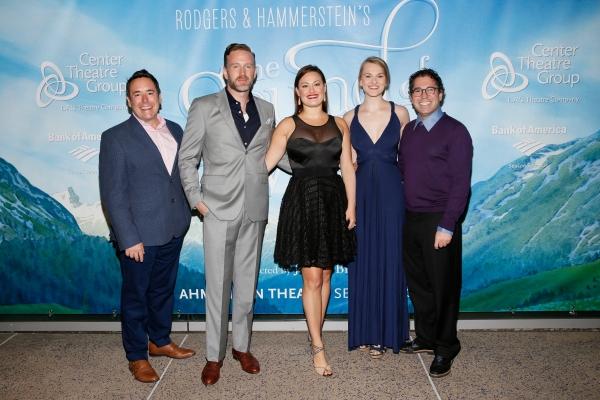 Associate director Matt Lenz with cast members Ben Davis, Ashley Brown, Kerstin Anderson, and music supervisor Andy Einhorn