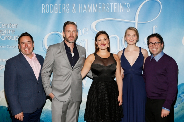 Associate  Matt Lenz with Ben Davis, Ashley Brown, Kerstin Anderson, and music supervisor Andy Einhorn