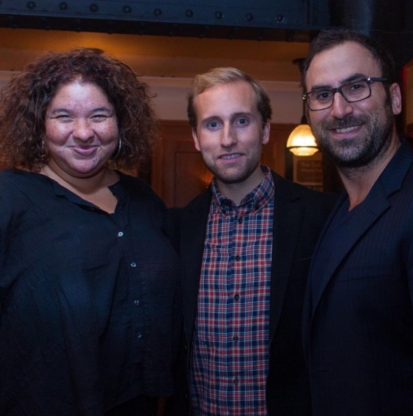 Liesl Tommy with TodayTix co-founders Brian Fenty and Merritt Baer