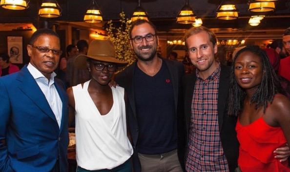 Stephen Byrd, Lupita Nyongâ€o, TodayTix co-founders Merritt Baer and Brian Fenty, and Zainab Jah