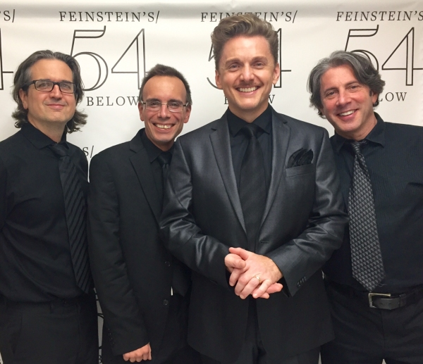 Jason Danieley with the band: Pete Donovan (left), Tedd Firth, Clint DeGanon (right)  Photo
