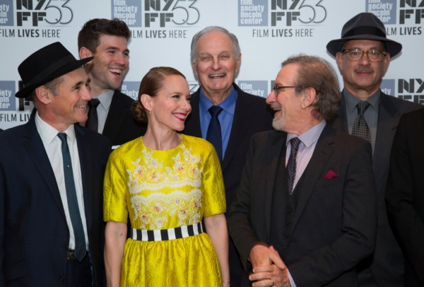 Mark Rylance, Amy Ryan, Alan Alda, Steven Spielberg, Tom Hanks